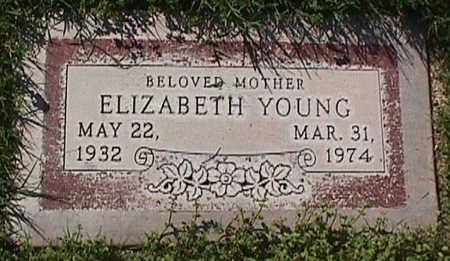 YOUNG, ELIZABETH - Maricopa County, Arizona   ELIZABETH YOUNG - Arizona Gravestone Photos
