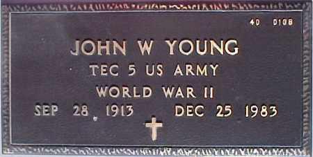 YOUNG, JOHN W. - Maricopa County, Arizona | JOHN W. YOUNG - Arizona Gravestone Photos