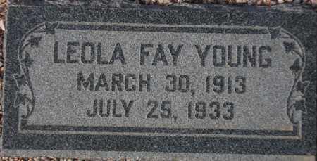 YOUNG, LEOLA FAY - Maricopa County, Arizona   LEOLA FAY YOUNG - Arizona Gravestone Photos