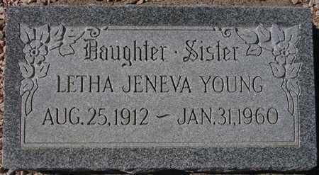 YOUNG, LETHA JENEVA - Maricopa County, Arizona | LETHA JENEVA YOUNG - Arizona Gravestone Photos