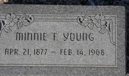 YOUNG, MINNIE F. - Maricopa County, Arizona | MINNIE F. YOUNG - Arizona Gravestone Photos