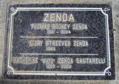 ZENDA, THOMAS ROONEY - Maricopa County, Arizona | THOMAS ROONEY ZENDA - Arizona Gravestone Photos