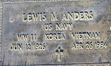 ANDERS, LEWIS M - Mohave County, Arizona   LEWIS M ANDERS - Arizona Gravestone Photos
