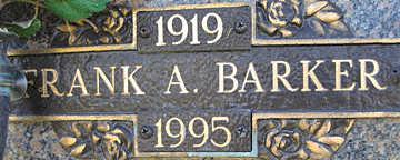BARKER, FRANK A - Mohave County, Arizona | FRANK A BARKER - Arizona Gravestone Photos