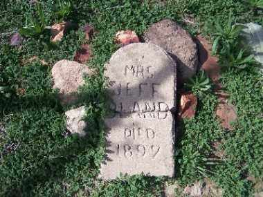 BLAND, MRS. JEFF - Mohave County, Arizona | MRS. JEFF BLAND - Arizona Gravestone Photos