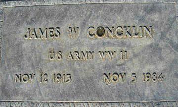 CONCKLIN, JAMES W - Mohave County, Arizona   JAMES W CONCKLIN - Arizona Gravestone Photos