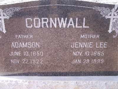 CORNWALL, JENNIE LEE - Mohave County, Arizona   JENNIE LEE CORNWALL - Arizona Gravestone Photos