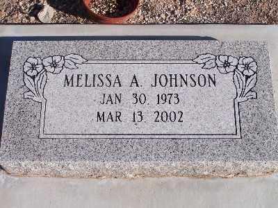 JOHNSON, MELISSA A - Mohave County, Arizona | MELISSA A JOHNSON - Arizona Gravestone Photos