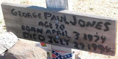 JONES, GEORGE PAUL - Mohave County, Arizona | GEORGE PAUL JONES - Arizona Gravestone Photos