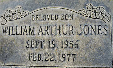 JONES, WILLIAM ARTHUR - Mohave County, Arizona | WILLIAM ARTHUR JONES - Arizona Gravestone Photos