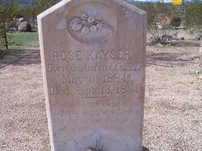 KAYSER, ROSE - Mohave County, Arizona | ROSE KAYSER - Arizona Gravestone Photos