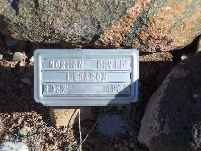 LEBARON, NORMAN DAVID - Mohave County, Arizona | NORMAN DAVID LEBARON - Arizona Gravestone Photos