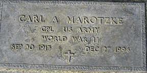 MAROTZKE, CARL A - Mohave County, Arizona | CARL A MAROTZKE - Arizona Gravestone Photos