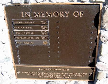 MATHEW, G. E. - Mohave County, Arizona | G. E. MATHEW - Arizona Gravestone Photos