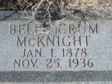 CRUM MCKNIGHT, BELLE - Mohave County, Arizona | BELLE CRUM MCKNIGHT - Arizona Gravestone Photos