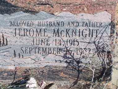MCKNIGHT, JEROME - Mohave County, Arizona | JEROME MCKNIGHT - Arizona Gravestone Photos