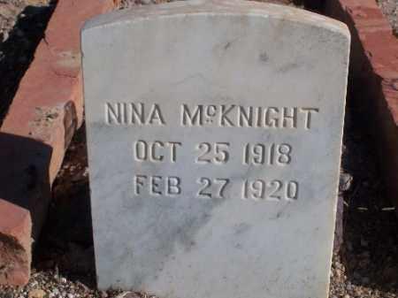 MCKNIGHT, NINA - Mohave County, Arizona   NINA MCKNIGHT - Arizona Gravestone Photos