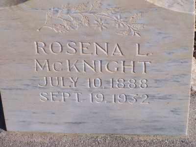 MCKNIGHT, ROSENA L - Mohave County, Arizona | ROSENA L MCKNIGHT - Arizona Gravestone Photos