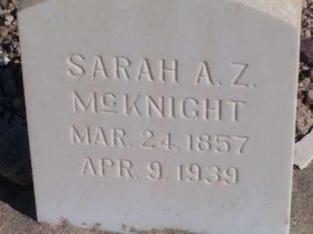 MCKNIGHT, SARAH A Z - Mohave County, Arizona | SARAH A Z MCKNIGHT - Arizona Gravestone Photos