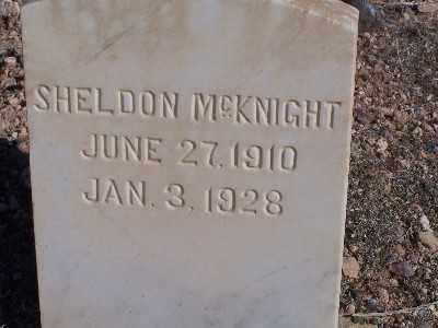 MCKNIGHT, SHELDON - Mohave County, Arizona | SHELDON MCKNIGHT - Arizona Gravestone Photos