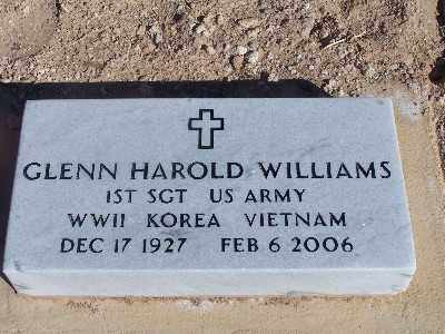 WILLIAMS, GLENN HAROLD - Mohave County, Arizona | GLENN HAROLD WILLIAMS - Arizona Gravestone Photos