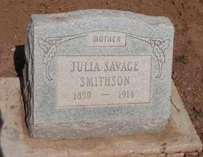 SMITHSON, JULIA SAVAGE - Navajo County, Arizona | JULIA SAVAGE SMITHSON - Arizona Gravestone Photos