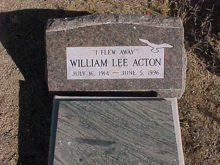ACTON, WILLIAM  LEE - Pinal County, Arizona   WILLIAM  LEE ACTON - Arizona Gravestone Photos