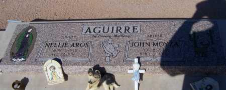 AROS AGUIRRE, NELLIE AROS - Pinal County, Arizona   NELLIE AROS AROS AGUIRRE - Arizona Gravestone Photos