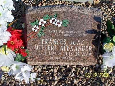 MILLER ALEXANDER, FRANCES JUNE - Pinal County, Arizona | FRANCES JUNE MILLER ALEXANDER - Arizona Gravestone Photos