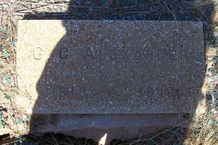 ALEXANDER, G. C. - Pinal County, Arizona | G. C. ALEXANDER - Arizona Gravestone Photos