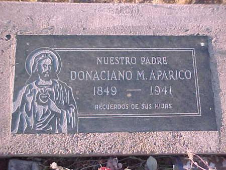 APARICO, DONACIANO  M. - Pinal County, Arizona   DONACIANO  M. APARICO - Arizona Gravestone Photos