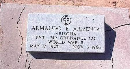 ARMENTA, ARMANDO E. - Pinal County, Arizona   ARMANDO E. ARMENTA - Arizona Gravestone Photos