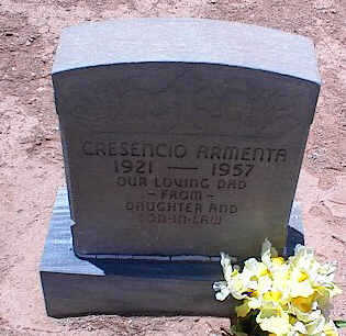 ARMENTA, CRESENCIO - Pinal County, Arizona | CRESENCIO ARMENTA - Arizona Gravestone Photos