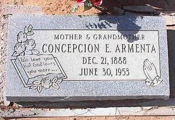 ARMENTA, CONCEPCION E. - Pinal County, Arizona | CONCEPCION E. ARMENTA - Arizona Gravestone Photos