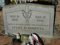 ARMENTA, FELIPE D - Pinal County, Arizona | FELIPE D ARMENTA - Arizona Gravestone Photos
