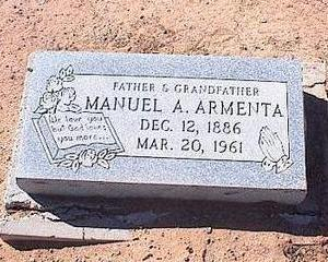 ARMENTA, MANUEL A. - Pinal County, Arizona | MANUEL A. ARMENTA - Arizona Gravestone Photos