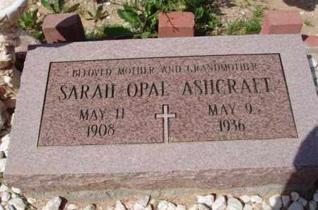 ASHCRAFT, SARAH - Pinal County, Arizona | SARAH ASHCRAFT - Arizona Gravestone Photos