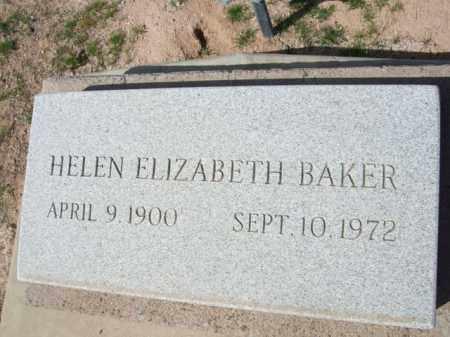 BAKER, HELEN ELIZABETH - Pinal County, Arizona   HELEN ELIZABETH BAKER - Arizona Gravestone Photos
