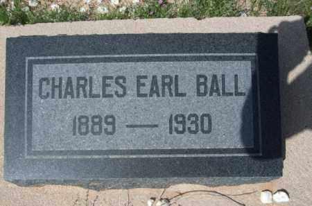 BALL, CHARLES EARL - Pinal County, Arizona | CHARLES EARL BALL - Arizona Gravestone Photos