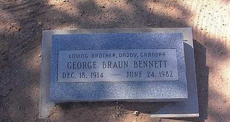 BENNETT, GEORGE BRAUN - Pinal County, Arizona | GEORGE BRAUN BENNETT - Arizona Gravestone Photos