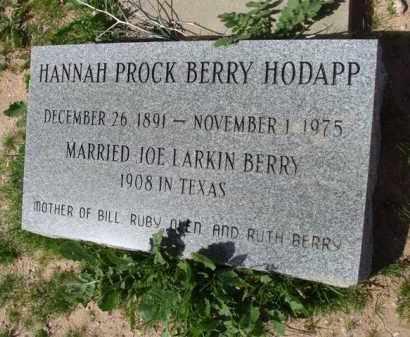 BERRY-HODAPP, HANNAH - Pinal County, Arizona | HANNAH BERRY-HODAPP - Arizona Gravestone Photos