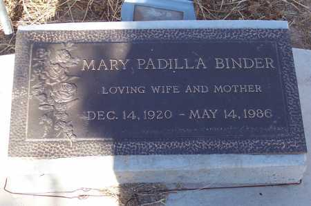 PADILLA BINDER, MARY - Pinal County, Arizona   MARY PADILLA BINDER - Arizona Gravestone Photos