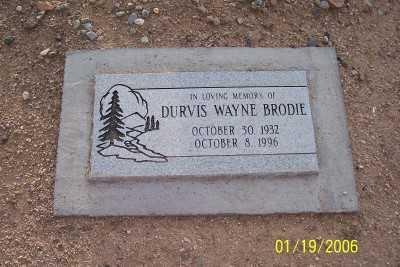 BRODIE, DURVIS WAYNE - Pinal County, Arizona   DURVIS WAYNE BRODIE - Arizona Gravestone Photos