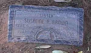 BROWN, SUSANNE R. - Pinal County, Arizona   SUSANNE R. BROWN - Arizona Gravestone Photos