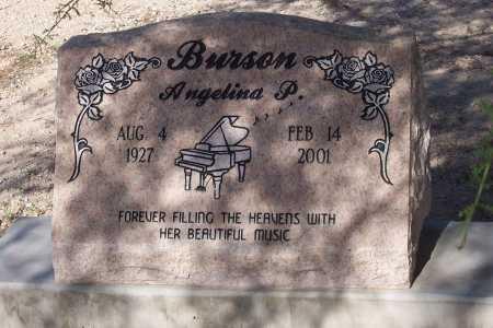 BURSON, ANGELINA P. - Pinal County, Arizona   ANGELINA P. BURSON - Arizona Gravestone Photos