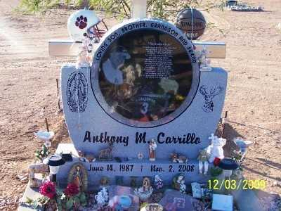 CARRILLO, ANTHONY MANUEL, JR. - Pinal County, Arizona | ANTHONY MANUEL, JR. CARRILLO - Arizona Gravestone Photos