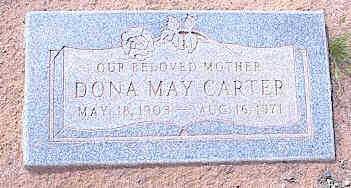 CARTER, DONA MAY - Pinal County, Arizona   DONA MAY CARTER - Arizona Gravestone Photos
