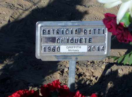 """CHIQUETE, PATRICIA """"PATTI"""" LOUISE - Pinal County, Arizona   PATRICIA """"PATTI"""" LOUISE CHIQUETE - Arizona Gravestone Photos"""