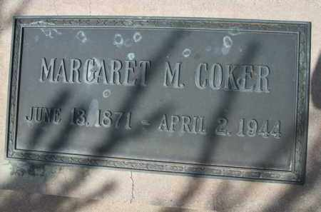 COKER, MARGARET M. - Pinal County, Arizona   MARGARET M. COKER - Arizona Gravestone Photos