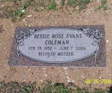 EVANS COLEMAN, BESSIE ROSE - Pinal County, Arizona | BESSIE ROSE EVANS COLEMAN - Arizona Gravestone Photos